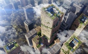 Компания Sumitomo Forestry объявила, что планирует построить 350-метровое деревянное здание в Токио к 2041 году.