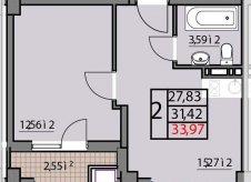 1-к квартира, 27 м², 9/9 эт.