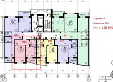 Однокомнатная квартира 43 квадратных метров. ЭНКА.
