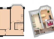 1-к квартира, 42 м², 7/18 эт.