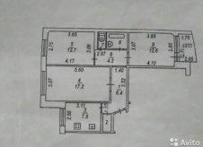3-к квартира, 70.8 м², 4/9 эт.