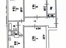 3-к квартира, 80.3 м², 8/12 эт.
