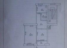 2-к квартира, 54.5 м², 3/5 эт.