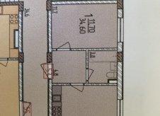 1-к квартира, 35 м², 1/3 эт.