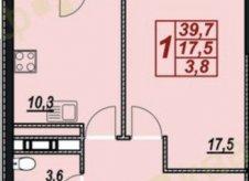 1-к квартира, 43.5 м², 9/13 эт.
