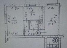 2-к квартира, 51.4 м², 4/5 эт.