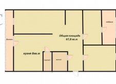 3-к квартира, 68 м², 3/5 эт.