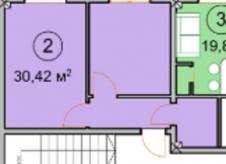 1-к квартира, 31 м², 1/3 эт.