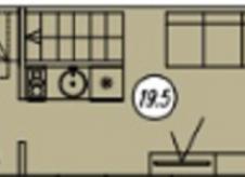 Студия, 20 м², 4/4 эт.