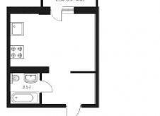 1-к квартира, 25 м², 8/16 эт.