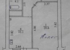 1-к квартира, 45 м², 2/10 эт.