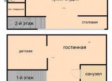 3-к квартира, 55 м², 1/4 эт.