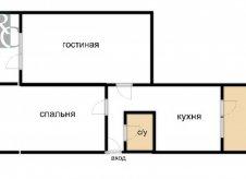 2-к квартира, 60 м², 3/5 эт.