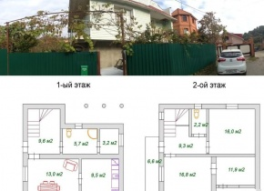 Дом 100 м² на участке 11.00 соток
