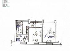 2-к квартира, 55 м², 1/3 эт.