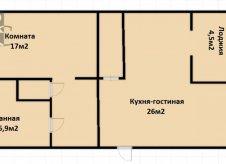 2-к квартира, 64 м², 10/10 эт.