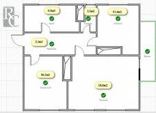 3-к квартира, 69 м², 2/2 эт.