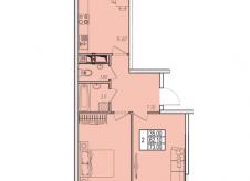 2-к квартира, 73 м², 7/17 эт.